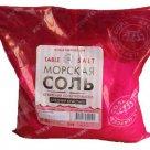 Соль морская пищевая садочная, первый сорт (сухая средняя; розовый полиэтиленовый пакет, 1 кг) в Перми