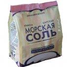 Соль морская пищевая садочная, первый сорт (сухая мелкая, средняя; полиэтиленовый пакет с плоским дном, 500 грамм) в Калининграде