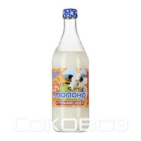 Молоко Можайское топленое 3,2% 0,45л (20шт.)