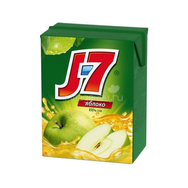 Сок J7 Яблоко 0,2 литра 27 штук в упаковке