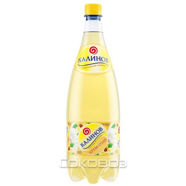 Калинов Крем-сода 1,5 литра 6 шт. в упаковке