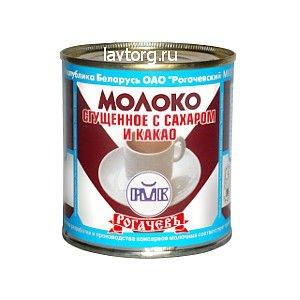 Сгущенное молоко с сахаром и какао РОГАЧЕВ. ж/б 380г
