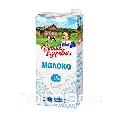 Молоко Домик в Деревне 0,5%, 950г (12шт.)