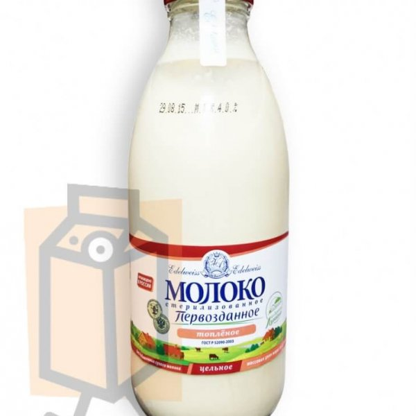 Молоко стерилизованное топлёное 3,5-4,5% 0,75л ст/б