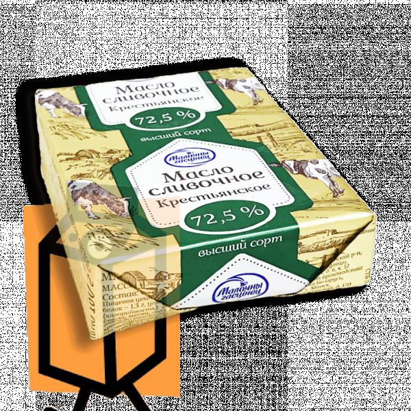 """Масло сливочное """"Молочный гостинец"""" 72,5% 180г фольга"""