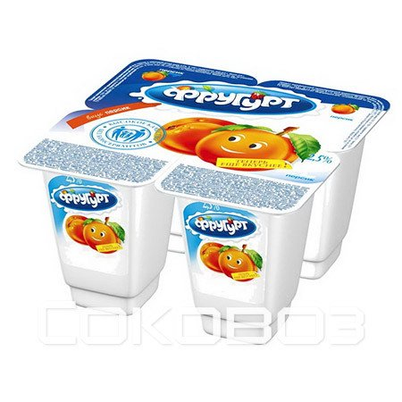 Йогурт Фругурт Персик 2,5%, 100г (24шт)