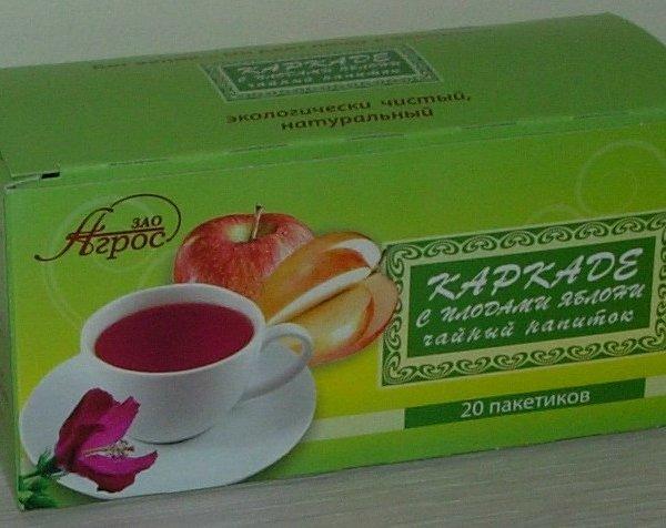 Чайный напиток плодовый Каркаде с плодами яблони