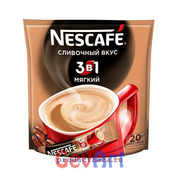 Кофе Nescafe 3в1 растворимый Мягкий, пакет 20 г