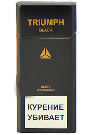 Сигареты Triumph Black Slims 6.2/100 МРЦ-100