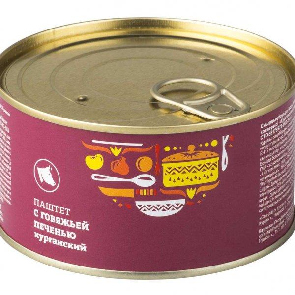 Паштет Курганский из говяжьей печени 325 гр. ключ