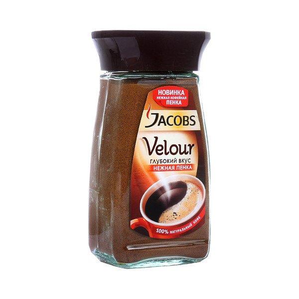 Кофе Jacobs Монарх Велюр, стекло 95г.