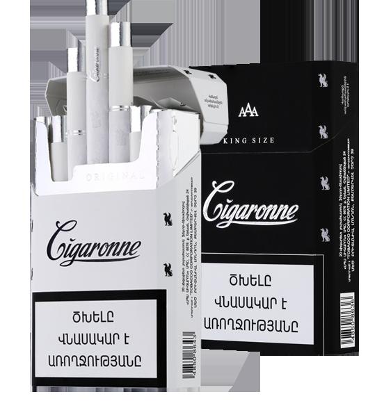 Сигареты Cigaronne Кing Size White 84mm МРЦ160-00