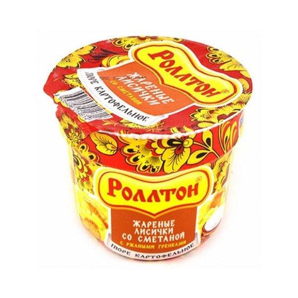 """Картофельное пюре лисички в сметане """"Роллтон, 40г"""