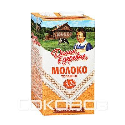 Молоко Домик в деревне топленое 3,2%, 950г (12шт.)