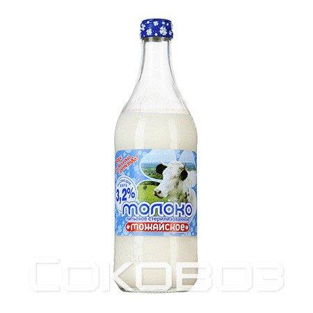 Молоко Можайское 3,2% 0,45л (20шт.)