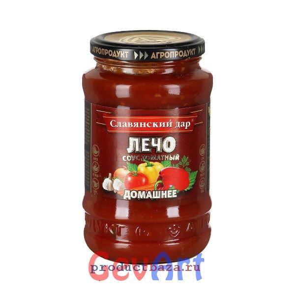 Соус Славянский дар томатный Лечо домашнее, 480г