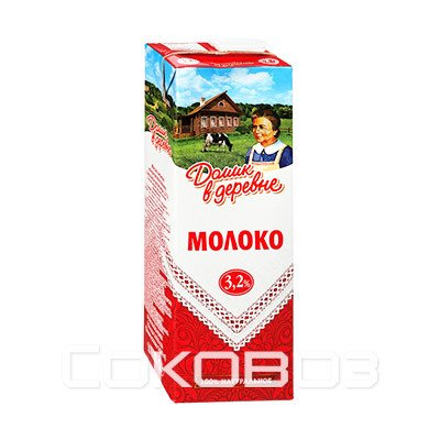 Молоко Домик в Деревне 3,2%, 1450г (8шт.)