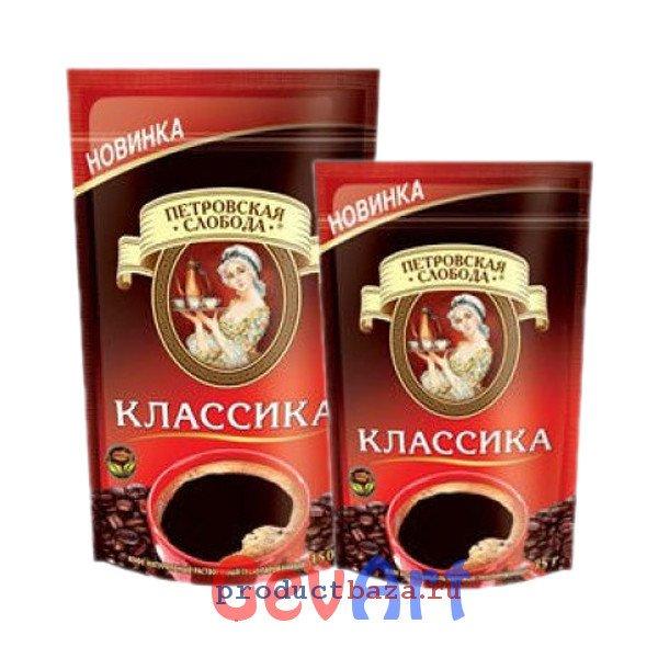 """Кофе """"Петровская Слобода"""" Классика, пак 75г"""
