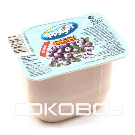 Йогурт Фругурт ЛМК Черника 250г (16шт)