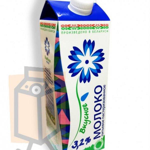 """Молоко пастеризованное """"Витебское молоко"""" """"Вкусное"""" 3,2% 1л пюр-пак"""