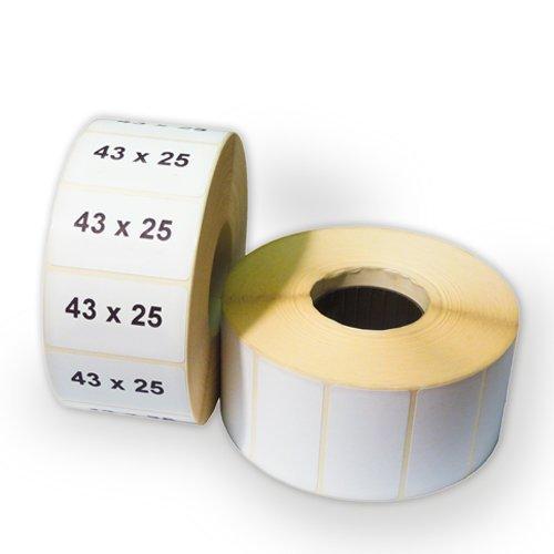 Этикетка 43x25 (900 шт.) полуглянец (термотрансферная)