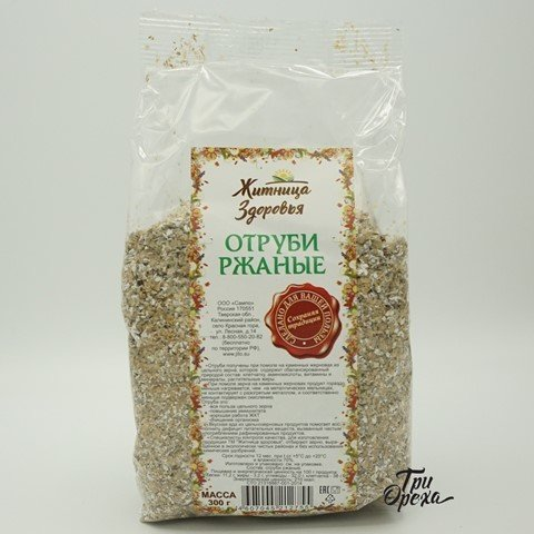 Отруби ржаные ЖИТНИЦА ЗДОРОВЬЯ, 300 гр