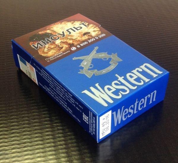 """Сигареты """"WESTERN"""" BLUE МРЦ 49"""