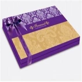 """Шоколадные конфеты """"Коконат"""" в фиолетовой коробке с бантом Большая коробка"""