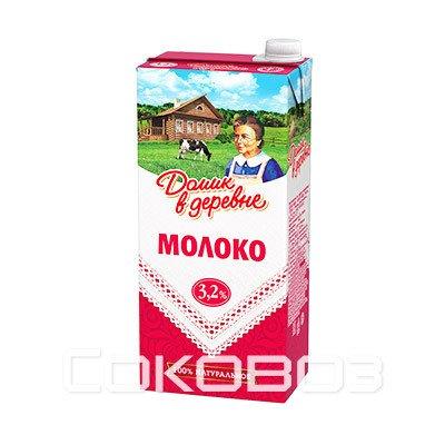 Молоко Домик в Деревне 3,2%, 950г (12шт.)