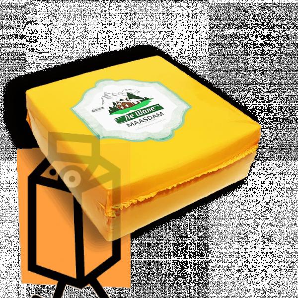 """Сыр полутвердый """"Ле Шале"""" МААСДАМ 45% 0,5кг пленка"""