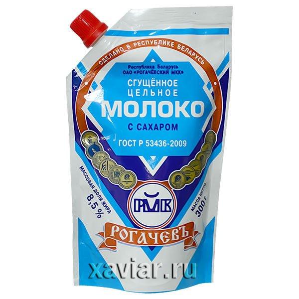 """Сгущенное молоко с сахаром """"РОГАЧЕВ"""" Дой-Пак, 380 гр."""
