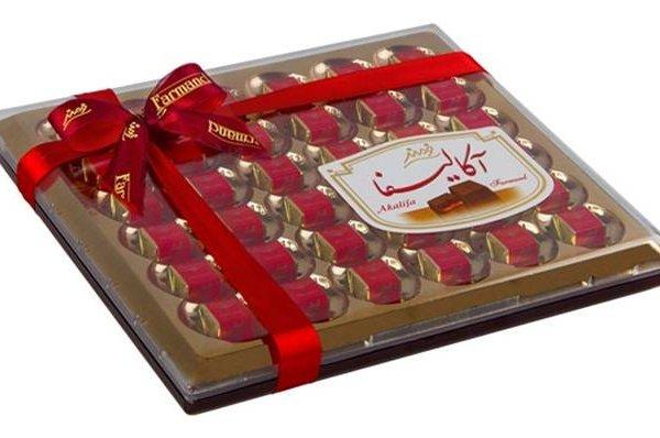 """Шоколадные конфеты """"Акалифа"""" Кристал Большая прозрачная коробка"""