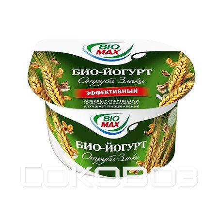 Йогурт BioMax Эффективный Отруби-Злаки 2,5%, 115г (12шт)