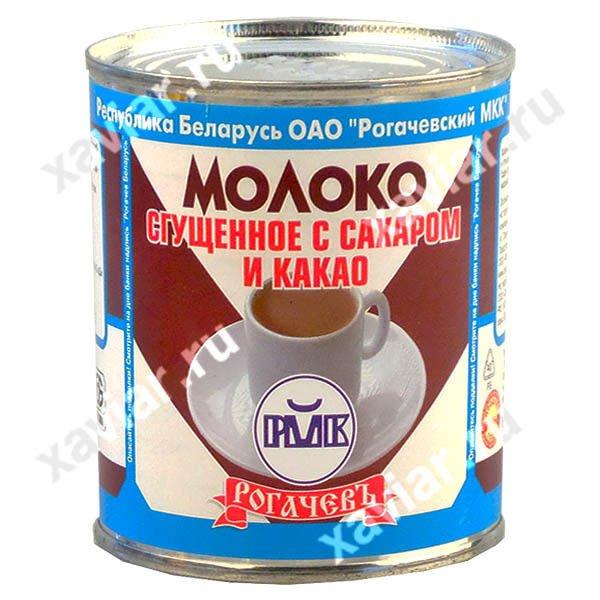 """Молоко сгущенное с сахаром и какао """"Рогачевъ"""", 380 гр."""