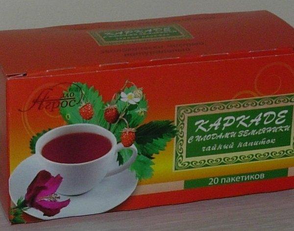 """Чайный напиток плодовый """"Каркаде с плодами земляники"""""""