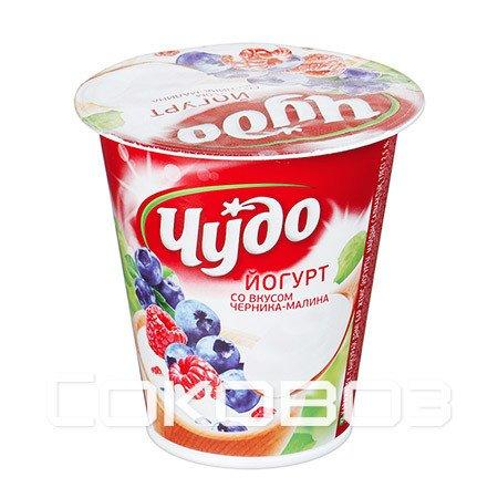 Йогурт Чудо Черника-Малина 2,5% 290г (8шт)