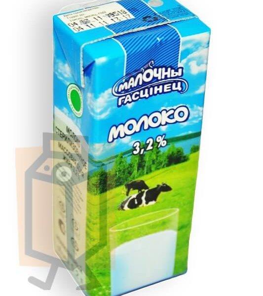 """Молоко ультрапастеризованное """"Молочный гостинец"""" 3,2% 0,2л тетра-пак"""
