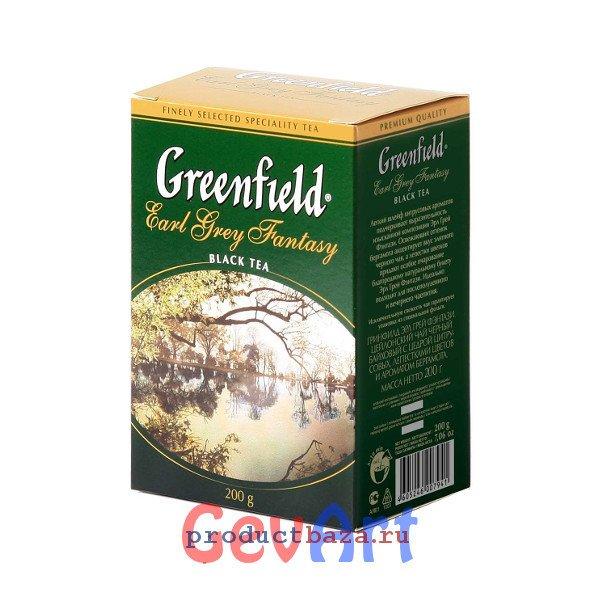 Чай Greenfield Earl Grey Fantasy чёрный листовой байховый, 200г