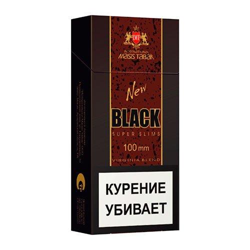 Сигареты New Black Super Slims МРЦ 105-00
