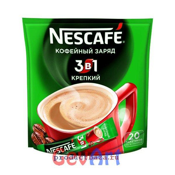 Кофе Nescafe 3в1 растворимый Крепкий, пакет 20 г