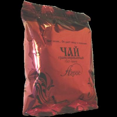 """Чай черный байховый цейлонский листовой """"Агрос"""" в/с в пленке со стикером"""