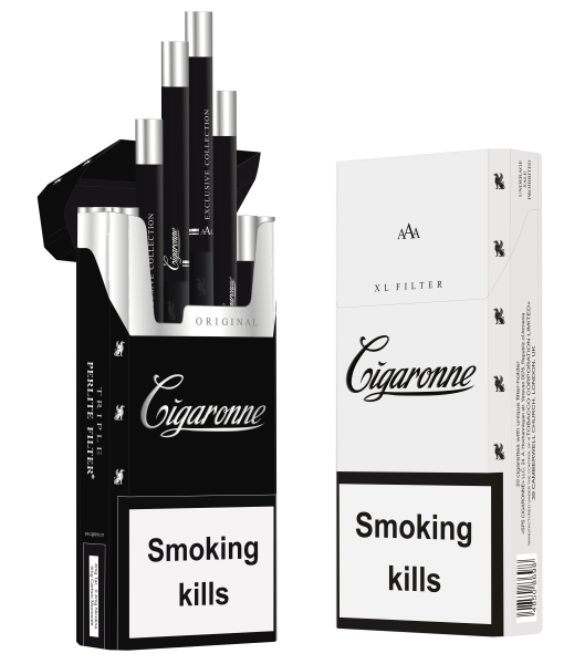 Сигареты Cigaronne Super Slims Black МРЦ 160-00