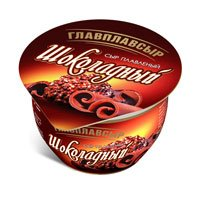 """Сыр плавленый Шоколадный ТМ """"Главплавсыр"""" м.д.ж. 40% стакан"""