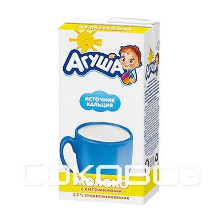 Молоко Агуша Витаминизированное 3,2% 0,5л (15шт)