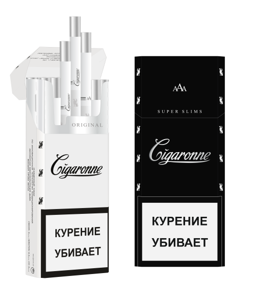 Сигареты Cigaronne Ultra Slims Black МРЦ 140-00