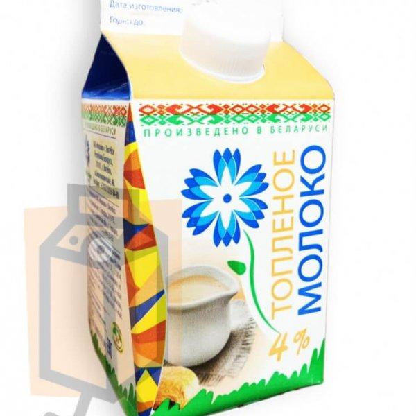 Молоко пастеризованное топленое 4% 0,5л пюр-пак (г. Витебск, Беларусь)