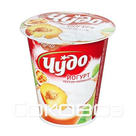 Йогурт Чудо Персик-Маракуйя 2,5% 290г (8шт)