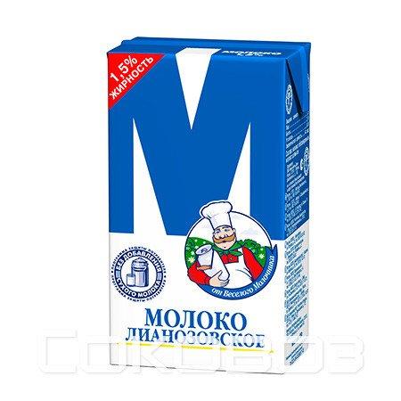 Молоко М Лианозовское 1,5%, 950г (12шт)
