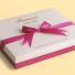 Конфеты Акалифа в подарочной сумочке из молочного шоколада с карамельной начинкой.